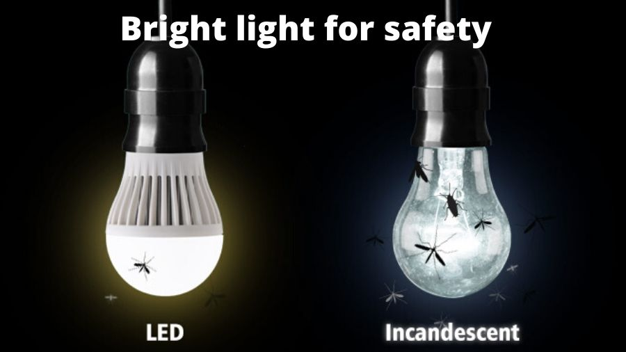 They use light for safety